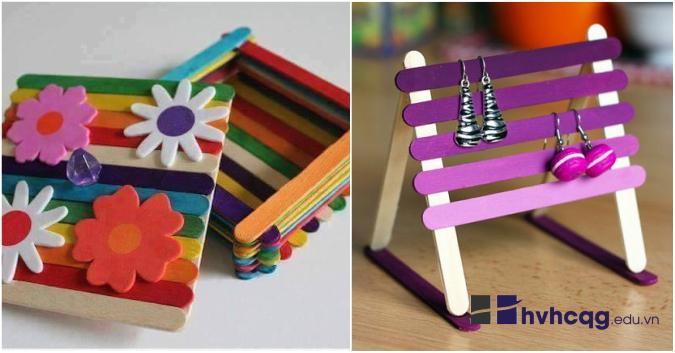 Gợi ý một số cách làm đồ handmade xinh xắn từ que kem